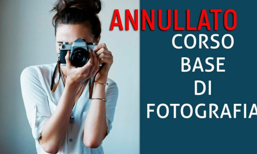 Corso di fotografia 2020-ANNULLATO